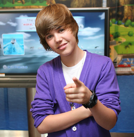 Justin Bieber, the 15-year-old fetus boy with lesbian emo hair who is